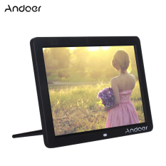 Andoer 12 Wide Screen HD LED Digital Picture Frame Digital Album High Resolution 1280*800 Electronic Photo Frame with Remote Control Multiple Functions Including LED Clock Calendar MP3 MP4 Movie Player Support Multiple Languages Outdoorfree - intl
