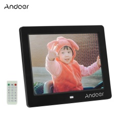 Price Compare Andoer 8 Lcd Wide Screen 1024 768 Hd Digital Photo Picture Frame Album Alarm Clock Mp3 Mp4 Movie Player With Remote Control Intl