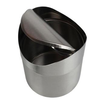 Andux Mini Trash Can Dustbin Wastebasket Table Desk Trash Bin Garbage Can Stainless Steel ZMLJT-01