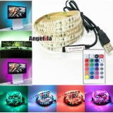 Discount Angelila 1 5M Waterproof 3528 Smd Led Strip Lighting 24 Button Remote Controller Ideal Rgb Color Changing Led Flexible Strip For X Mas Chrismas Party Indoor Outdoor Decoration Intl Angelila China