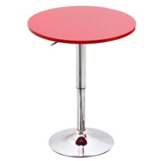 Anica Wood Bar Table ( Round ) 60 - 90Cm Adjustable Height (Bar Table)
