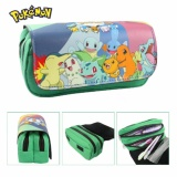 How To Buy Anime Pokemon Pen Bag Large Capacity Purse Wallet Card Holder Pencil Case Cosmetic Bag Double Zipper Stationery Cosplay Intl
