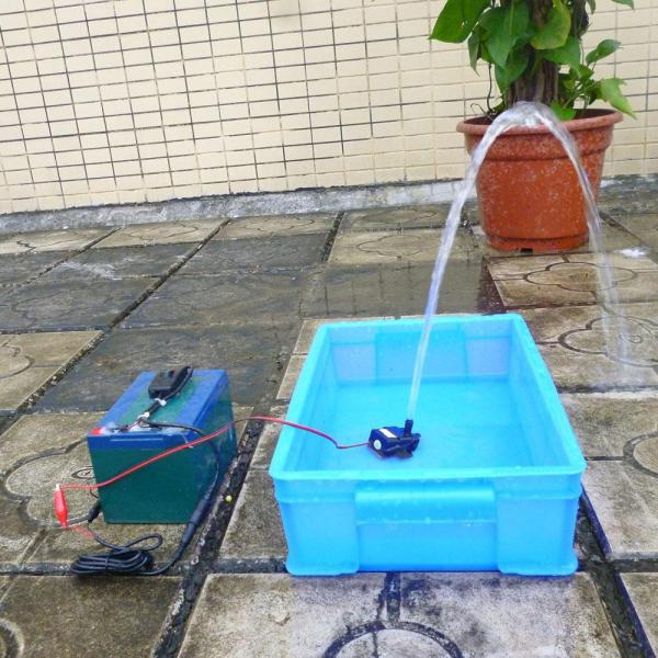Anself Ultra-quiet Mini DC12V 4.2W Micro Brushless Water Oil Pump Waterproof Submersible Fountain Aquarium Circulating 240L/H Lift 300cm - intl