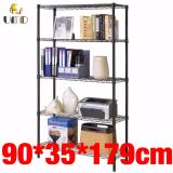 Buy Anti Rust Heavy Duty Height Adjustable Steel Rack Storage Js 301 Black On Singapore