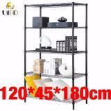 Sale Anti Rust Heavy Duty Height Adjustable Steel Rack Storage Rack Js 305 Black Online On Singapore
