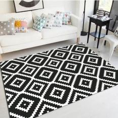 Anti-slip Nordic Geometric Living Room Floor Mat Carpet Tea Table Mats Large Sofa Rugs Soft Bedside Footcloth Absorbent Bedroom Carpets 50x80cm - intl