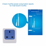 Discount Anysane New 10A Wireless Wifi Timer Socket With Power Consumption Measurement For Automation Module Uk Plug 3G 4G Ios Android Intl