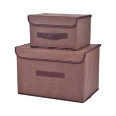 aoyou Office and Home Essentials Fabric Storage Box with Lids Large Foldable Storage Box with Lid Basket Bin Container - intl