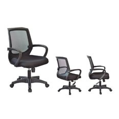 [APP] Korea Modern Design Ergonomic Home Office Chair (Black) + FREE Upgrade to Steel Base Leg