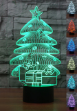 Compare Prices For Aptesol 3D Led Christmas Night Lamp Multi Color Change Button Led Desk Table Light Lamp Bedroom Children Room Decorative Night Light Toy Xmas Children Gift Christmas Tree Intl