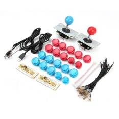Arcade Diy Kits Parts Usb Cable Controller Pc Arcade Stick 20 X Arcade Buttons Intl Free Shipping
