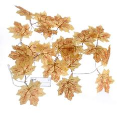 Arctic Land 1.2M 10LED Battery Box Maple Leaf Decorations String Wine Red Maple Leaf Christmas Interior Lights String Warm White Singapore