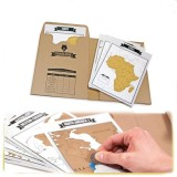 Price Arctic Land Travelogue Scratch World Map Travel Tips Book Log Notebook Tourist Gift Intl On China