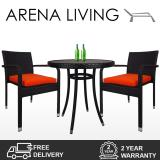 Get The Best Price For Arena Living Balcony Bistro Set Orange Cushions 2 Year Warranty Outdoor Furniture