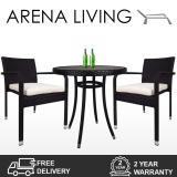 Buy Arena Living Balcony Bistro Set White Cushions 2 Year Warranty Outdoor Furniture On Singapore