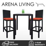 The Cheapest Arena Living Midas 2 Chair Bar Set Orange Cushion Online