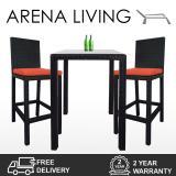 Arena Living Midas 2 Chair Bar Set Orange Cushion Arena Living Cheap On Singapore