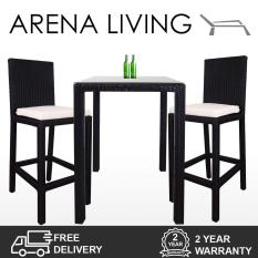 Review Arena Living Midas 2 Chair Bar Set White Cushion Arena Living On Singapore