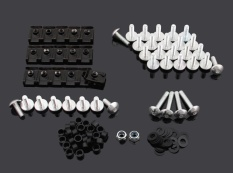 Areyourshop Complete Fairing Bolts Screws Fasteners Kit For YamahaYZF 1000 R1 2004-2006 Silver