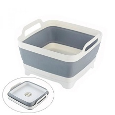 The Cheapest Arswin Collapsible Colander Foldable Dish Tub Dish Drainer Washing Basket Food Strainers And Fruits Vegetable Drainer Sink Colander Draining Basket Easy Storage With Double Handles White Grey Intl Online
