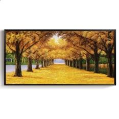Art Deco Oil Painting Landscape Modern Decorative Painting Canvas Wall Art Picture for Living room Home Decor Hotel Decoration 60x120cm Unframed - intl