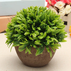 Artificial Grass Flowers Plants In Pot Home House Office Indoor Outdoor Decor - Intl