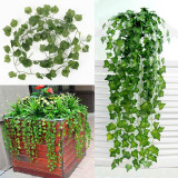 Price Artificial Ivy Vine Leaf Garland Plants Fake Foliage Flowers Deco Green China