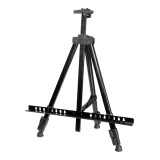 Low Price Artist Aluminium Alloy Folding Drawing Painting Easel Adjustable Tripod Stand Black Export