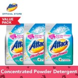 Best Deal Attack Ultra Power Powder Laundry Detergent 3Kg Set Of 3