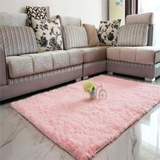 Audew Shaggy Anti Skid Carpets Rugs Floor Mat Cover 80 120Cm Pink Intl Free Shipping