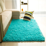Price Audew Shaggy Anti Skid Carpets Rugs Floor Mat Cover 80X120Cm Blue Intl On China