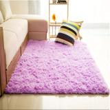 Price Comparison For Audew Shaggy Anti Skid Carpets Rugs Floor Mat Cover 80X120Cm Purple Intl