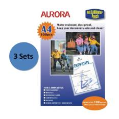 Aurora Laminator Pouch P100A4 3 Set Compare Prices