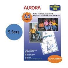 Aurora Laminator Pouch P100A4 5 Set Aurora Cheap On Singapore