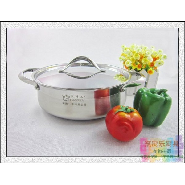 Product han pai LAOTESI Kitchenware hao chu Hot Pot Top Grade Stainless Steel Composite Sole Stew Pot Clear Soup Pot Singapore