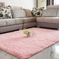 Autoleader Shaggy Anti-skid Carpets Rugs Floor Mat/Cover 80*120cm Pink