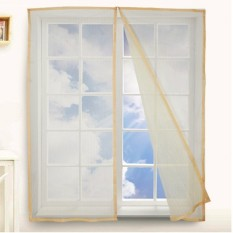 Automatic Closing Magnetic Anti-mosquito Mesh Soft Window Screen 10(W*H)0*150cm Yellow - intl
