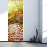 Price Autumn Forest Sun Shine 3D Golden Door Wall Sticker Home Decoration Decal Mural Intl On China