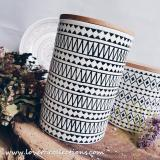 Discount Avery Black White Tribal Big Canister Jar Singapore