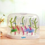 Baby Bottle Drying Rack Multi Function Tree Anti Bacterial Hanging Babies Accessories Drying Tray With Cover Intl Coupon