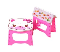 Baby Portable Stool Folding Safe Seat Chair Kids Small Flat Seat Kids Colorful Photography Props Kids Small Flat Seat - intl