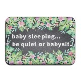 Promo Baby Sleeping Be Quiet Or Babysit Vintage 15 7 X 23 6 In Absorbent Anti Slip Floor Rug Carpet Door Mat Funny Doormat Funny Door Mat Funny Doormats Quote Doormat Unique Doormat Funny Mat Intl