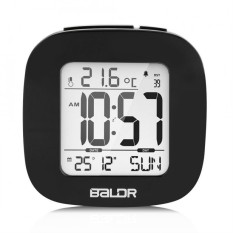 Baldr Mini Lcd Digital Travel Desk Alarm Clock Snooze Temperature Calendar Backlight Black Intl For Sale Online