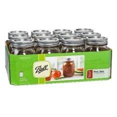 Sale Ball 1 Pint 473Ml Regular Mouth Mason Jar Case Set Of 12 Ball Branded