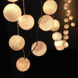 Discount Ball Lights 4M 40 Cotton Ball Battery Operated Warm White Color Singapore