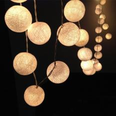 Top Rated Ball Lights 4M 40 Cotton Ball Battery Operated Warm White Color