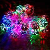 Latest Ball Lights 5M 50 Steel Balls Battery Operated Multi Colors