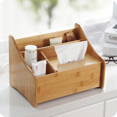 Wholesale Bamboo Desktop Remote Control Storage Box