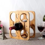 Purchase Bamboo Material Wine Holder 5 Bottles Rack Store Rack Bottle Assemble Intl Online