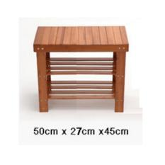 Discount Bamboo Shoes Rack Seat Bench Stool